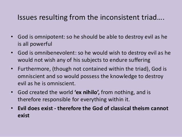 a philosophical discussion on the existence of god evil and suffering The problem of evil  but rather a family of arguments for the non-existence of god  the argument cites the evil and suffering we find in the.