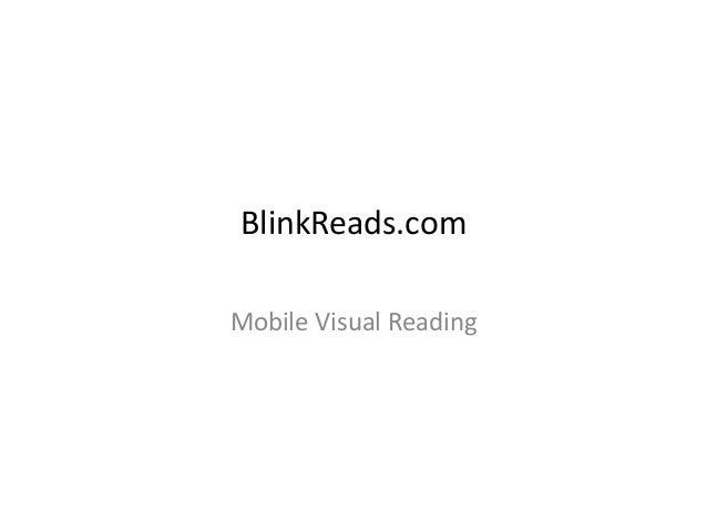 Blinkreads Presentation