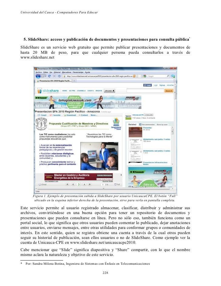 Universidad del Cauca - Computadores Para Educar  5. SlideShare: acceso y publicación de documentos y presentaciones para ...