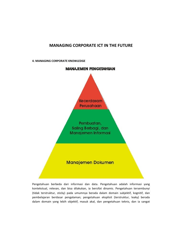 MANAGING CORPORATE ICT IN THE FUTURE                                                    4. MANAGING CORPORATE KNOWLEDGE   ...