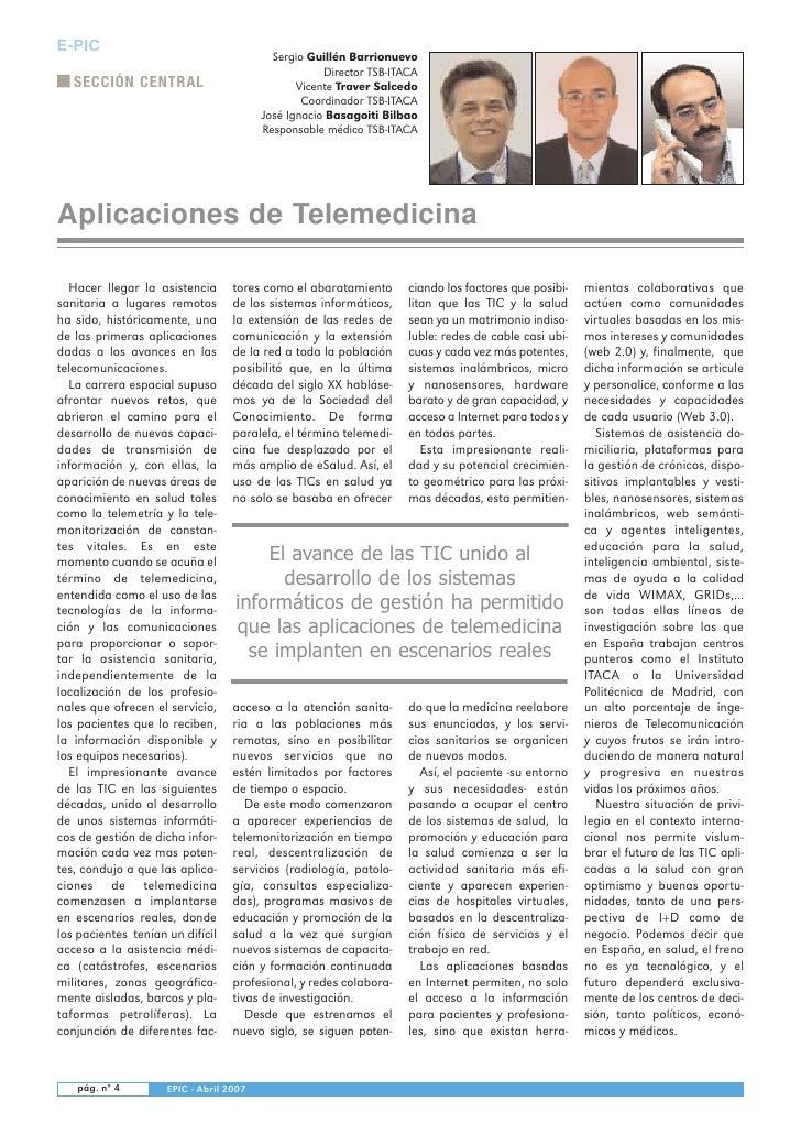 Sergio Guillén Barrionuevo E-PIC                                                      Director TSB-ITACA    SECCIÓN CENTRA...