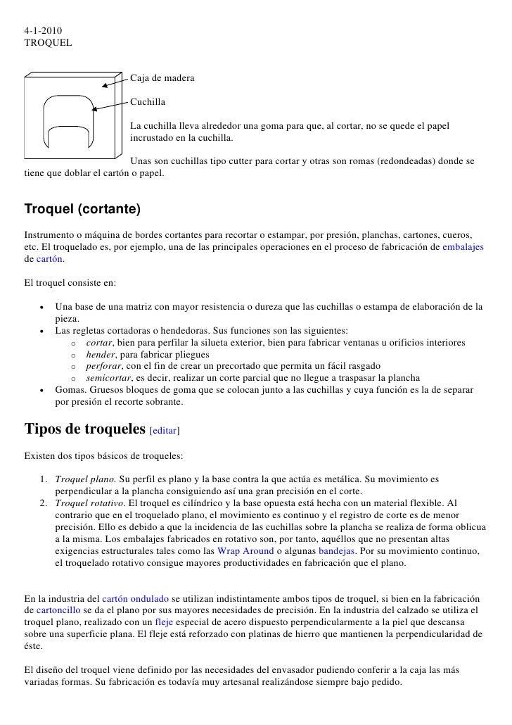 4-1-2010 TROQUEL                             Caja de madera                            Cuchilla                           ...