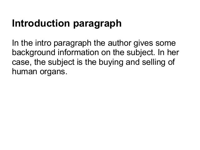 Introduction paragraph in persuasive essays
