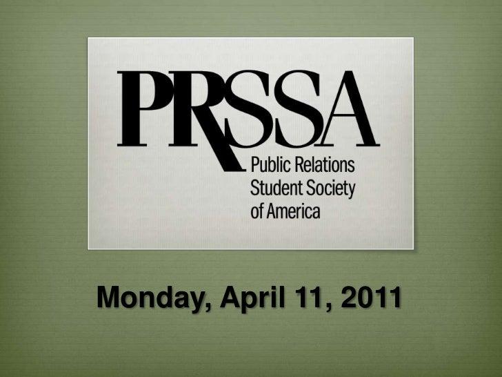 Monday, April 11, 2011<br />