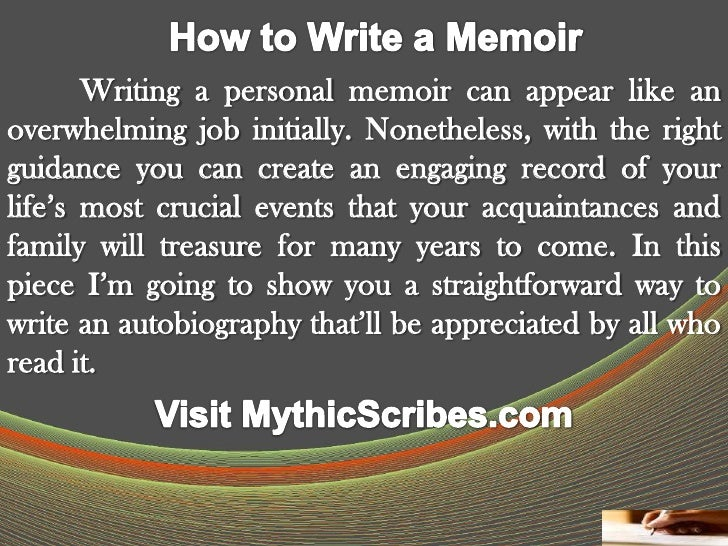 How to Write a Memoir LsOkAS6u