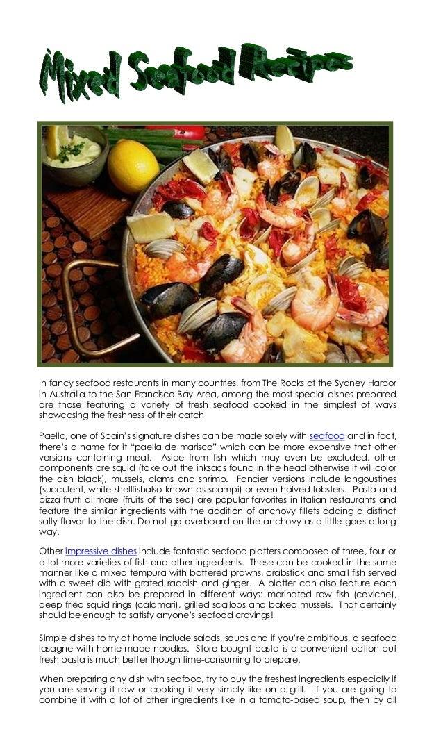 4.13.19 mixed seafood recipes