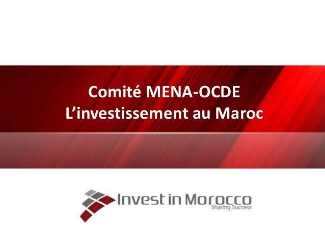 Comité MENA-OCDE L'investissement au Maroc
