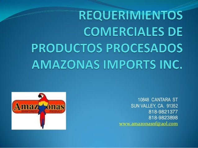 ADEX - seminario emprende 2012: amazonas import