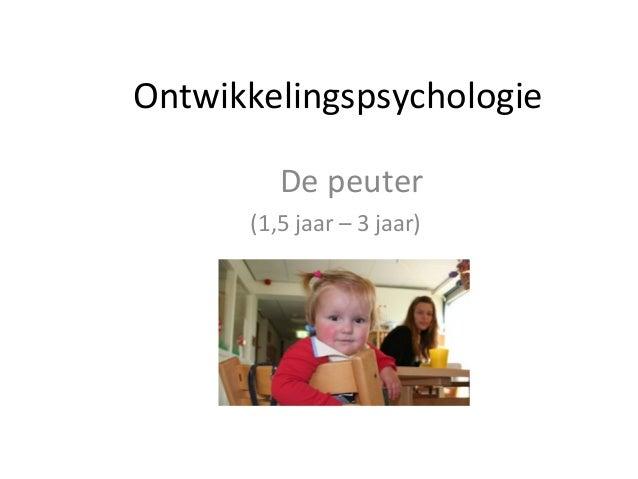 Ontwikkelingspsychologie De peuter (1,5 jaar – 3 jaar)