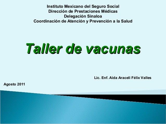 taller de vacunas 2011 IMSS