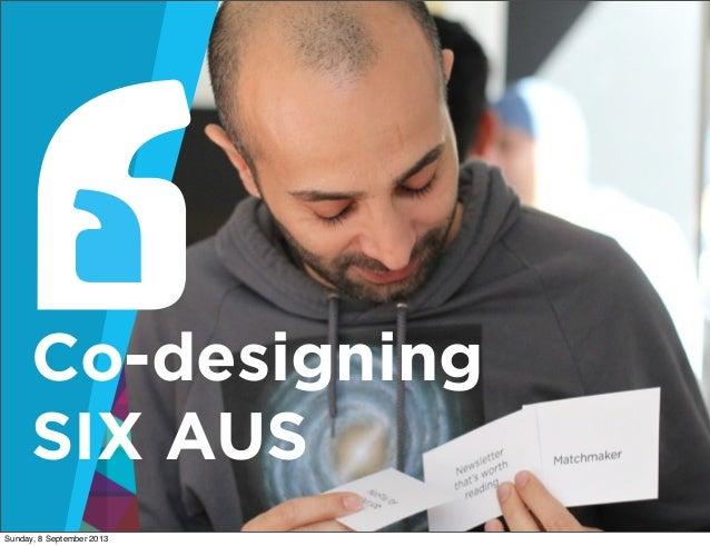 SIXSeoul13 Day 1: Co-designing SIX Australia - Carolyn Curtis