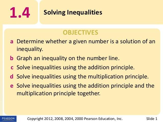4. solving inequalities