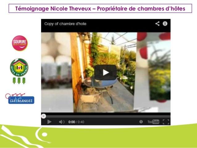 Témoignage Nicole Theveux – Propriétaire de chambres d'hôtes