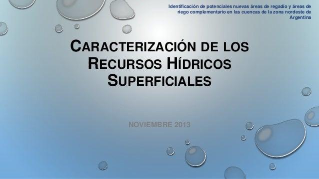 Caracterización de los recursos hídricos superficiales