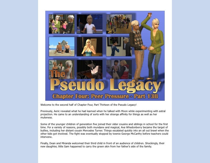 Welcome to the second half of Chapter Four, Part Thirteen of the Pseudo Legacy!  Previously, Aeric revealed what he had le...