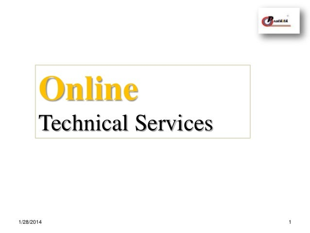 Online technical services