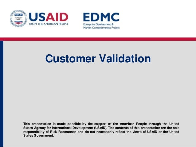 4.4 customer validation