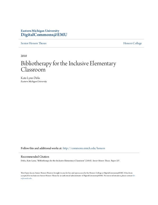 Bibliotherapy for the Inclusive Elementary Classroom