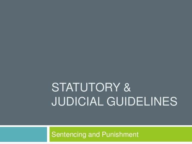 4.1 statutory & judicial guidelines