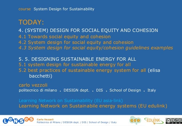 4.1 towards social equity and cohesion vezzoli 13-14