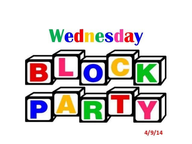 Wednesday 4/9/14