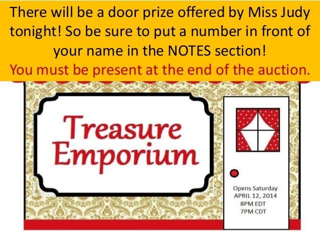April 12 Treasure Emporium