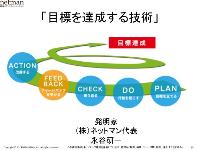 目標達成のための、行動を続ける技術①「続かない行動、続く行動」 先生:永谷 研一