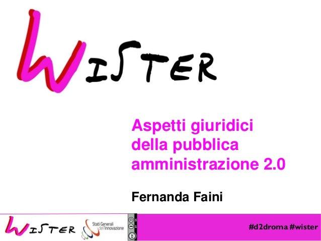 #d2droma #wister Foto di relax design, Flickr Aspetti giuridici della pubblica amministrazione 2.0 Fernanda Faini