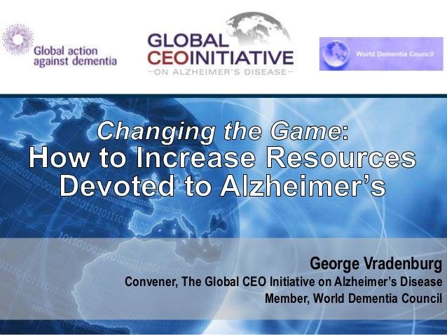 Global Dementia Legacy Event: Mr. George Vradenburg