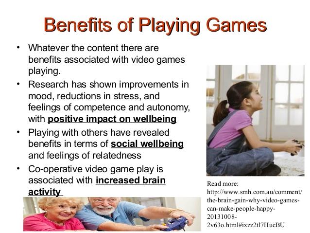benefits of video games essay