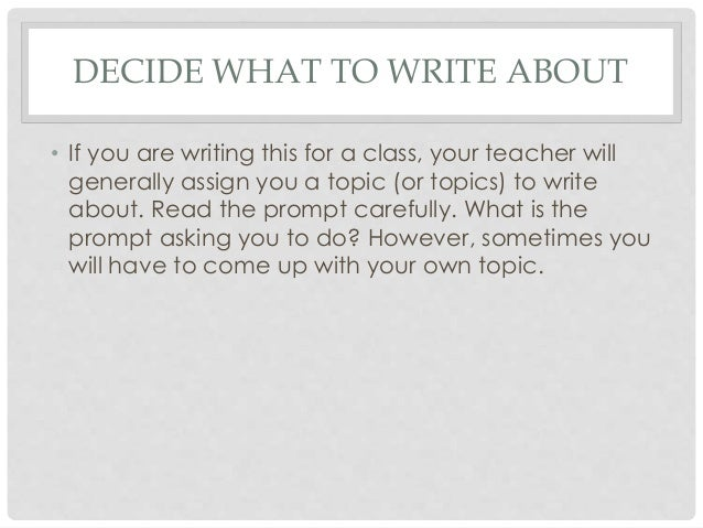 What to write about (essay)?