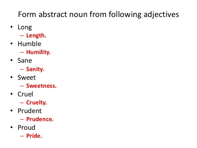 essay using abstract nouns Writing a great title  this handout explains why a good essay title  turn these verbs into nouns an analysis of a summary of.