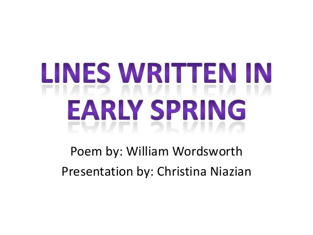 lines written in early spring