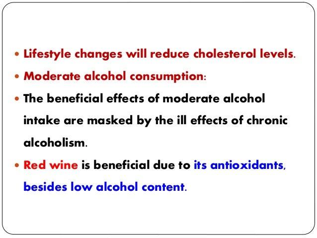 cholesterol en alcohol