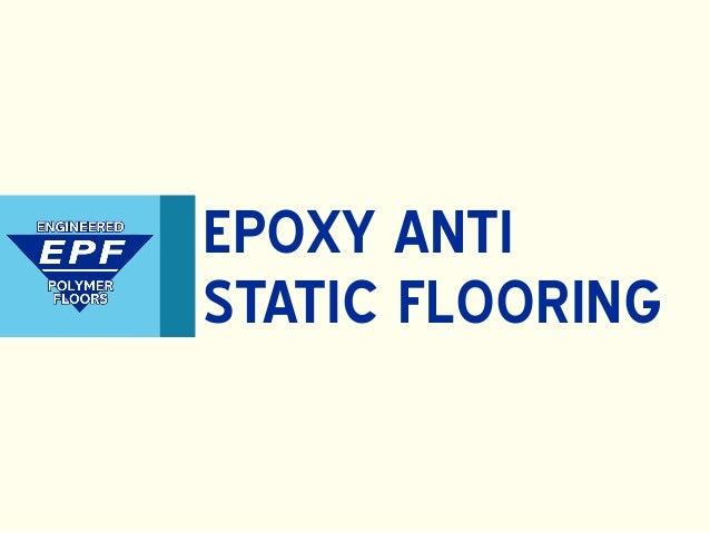 Anti Static Flooring Service : Epoxy anti static flooring