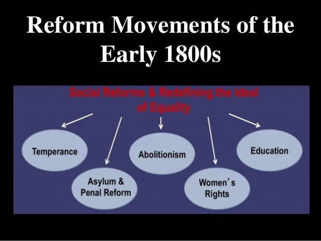 reform movements of the 1800s essay Theme: reform movements task: some suggestions you might wish to consider  include the abolitionist movement, populist movement, progressive movement,.