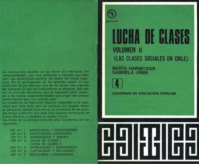 Clases sociales y Lucha de clases  VOL 2 (47 páginas). AÑO: 1971. Publicado el 15 de julio de 2009