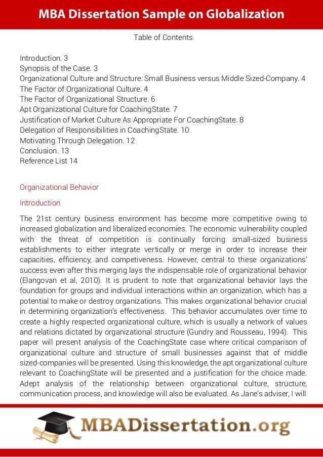 dissertation organizational leadership