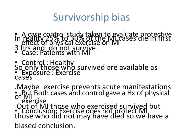 case control studies bias C keeble et al 130 1 introduction participation bias, a subset of selection bias, affects many study types and is often ignored by authors [1] it is.