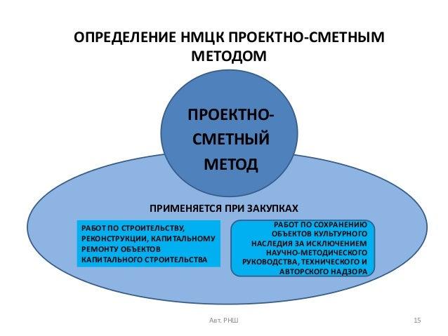 образец обоснование нмцк проектно-сметным методом