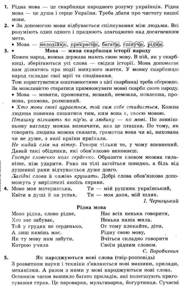 Гдз 4 класс украинская мова захарійчук 2015