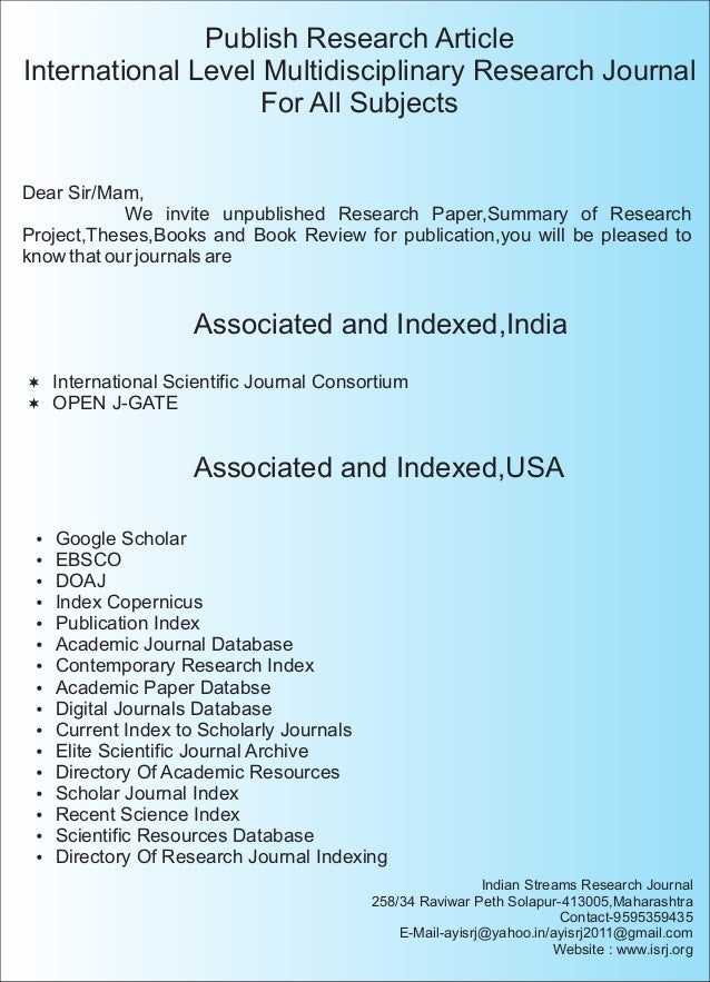 publish research paper Ijeast is a peer-reviewed journal in the field of engineering and applied sciences technology.