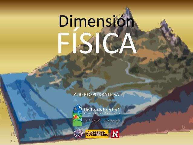 Dimensión  ALBERTO PIEDRA LEIVA  FÍSICA