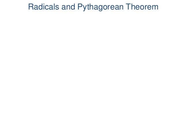 Radicals and Pythagorean Theorem Frank Ma © 2011
