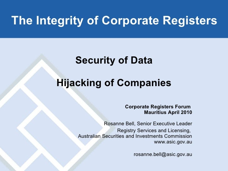 4.1 security data & hijacking of companies (australia)