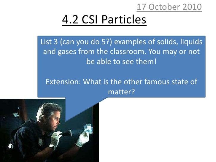 4.2 CSI particles