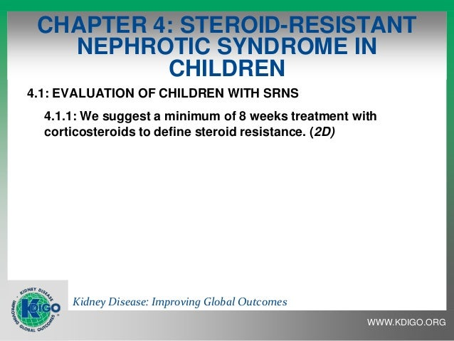 define steroid resistant nephrotic syndrome