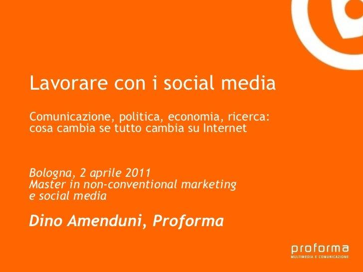 Lavorare coi social media