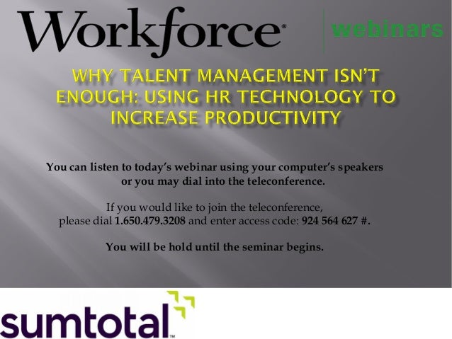 Why Talent Management Isn't Enough: Using HR Technology to Increase Productivity