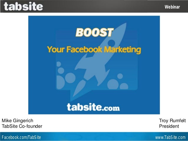 Facebook Marketing Webinar by TabSite